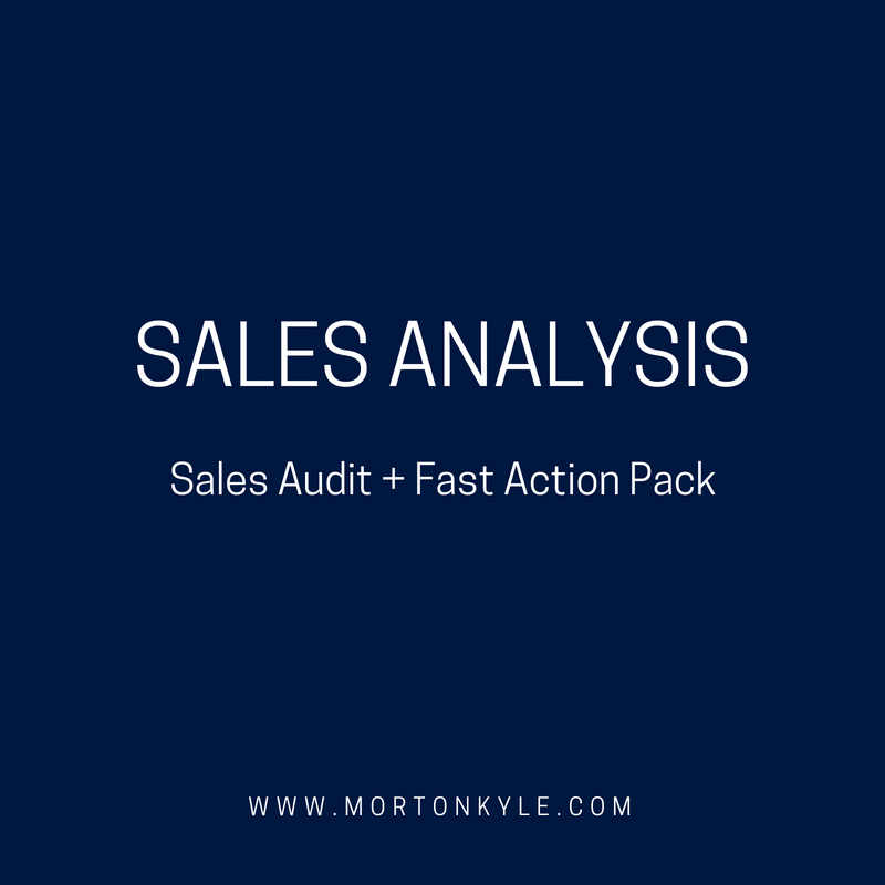 Sales audit ith a 30 day fast action pack to boost sales