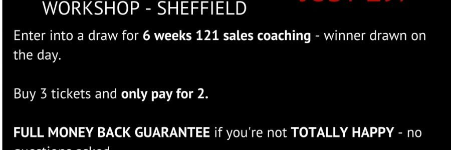 Sales Training Courses – Monthly – Sheffield