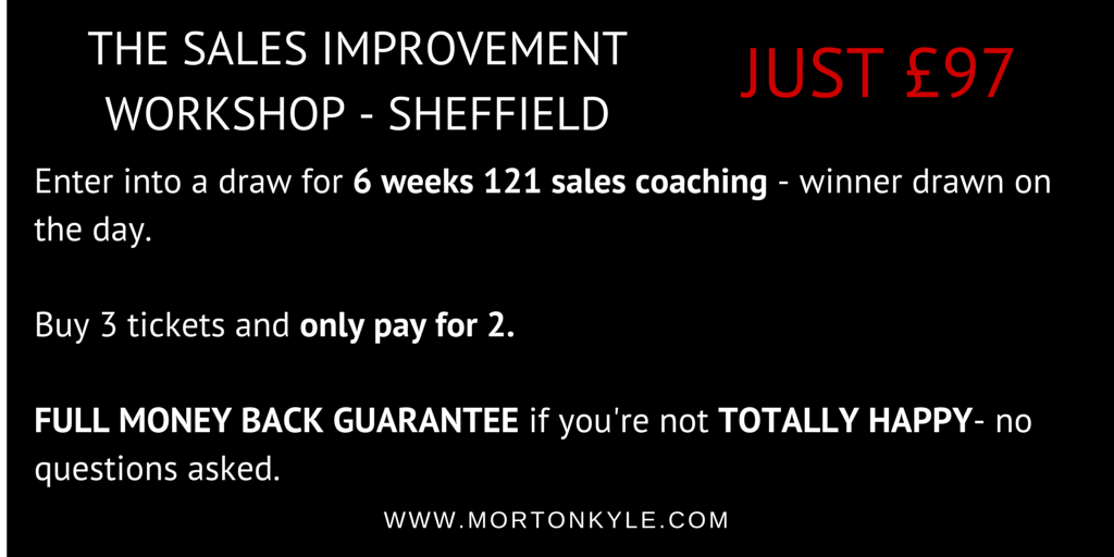 Sales Training Sheffield – Sales Training for Smart B2B Sales People – Improving Sales