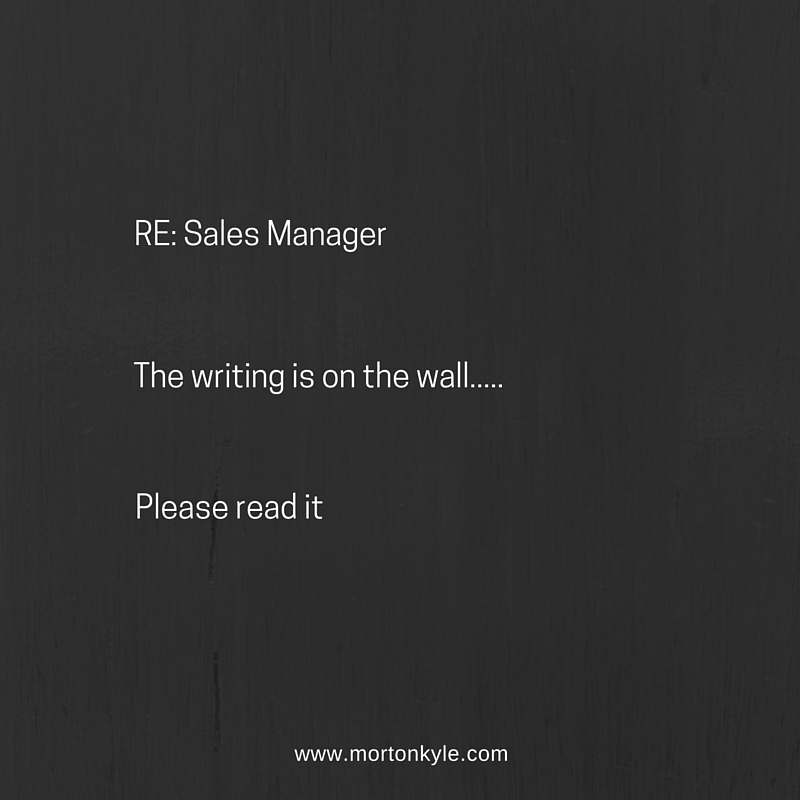 Sales Manager – Has Your Job Died?