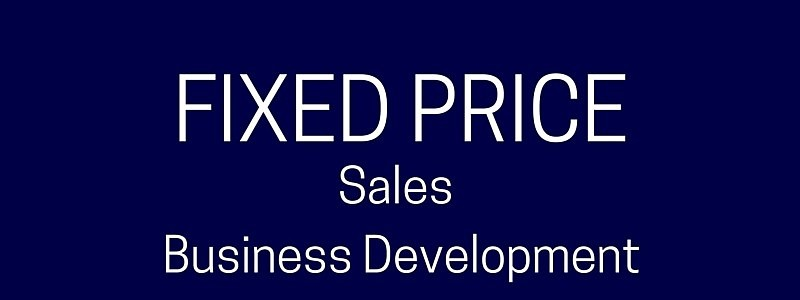 Fixed Price Sales Training – Limited Availability – UK