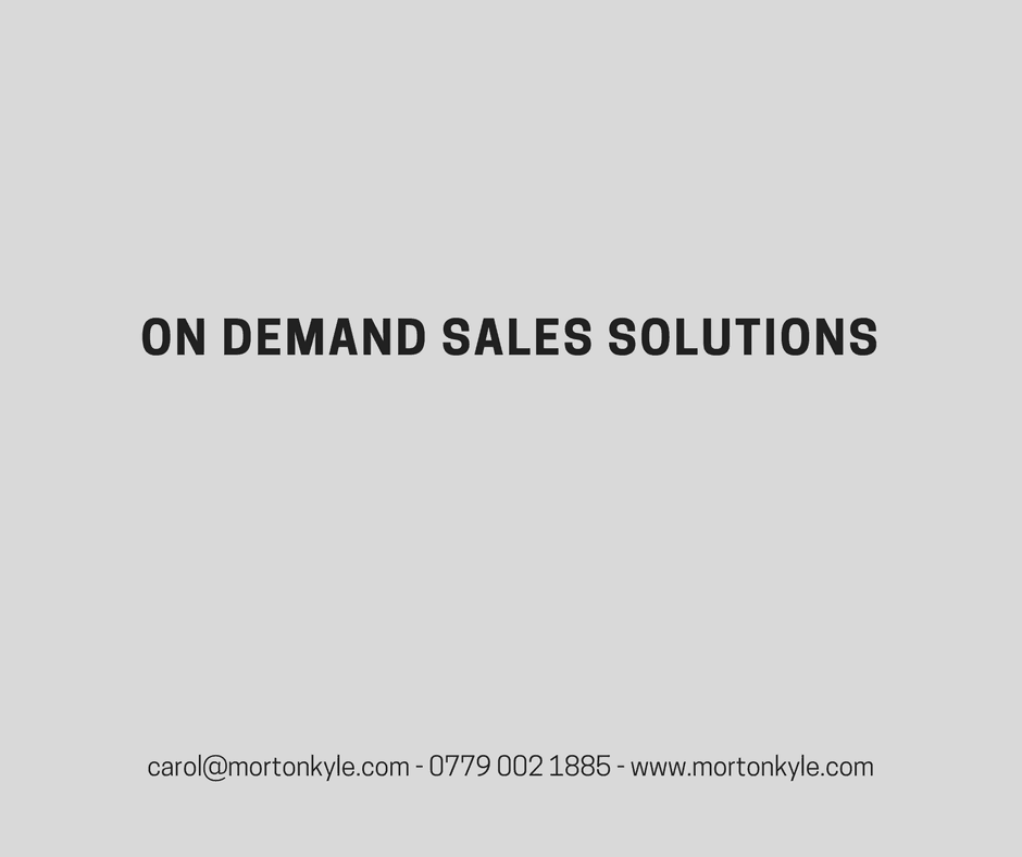 On Demand Sales Solutions – When You Need Sales Fast!