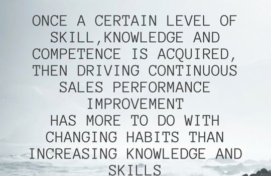 Training Needs Analysis for Sales People – When, Why and How.