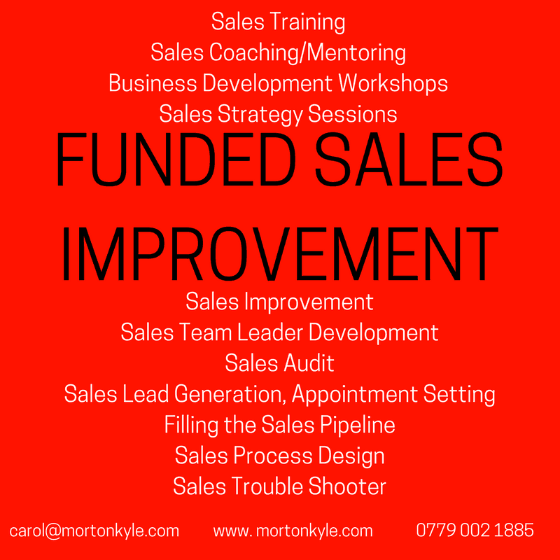 Funded Sales Training, Sales Coaching and Business Development