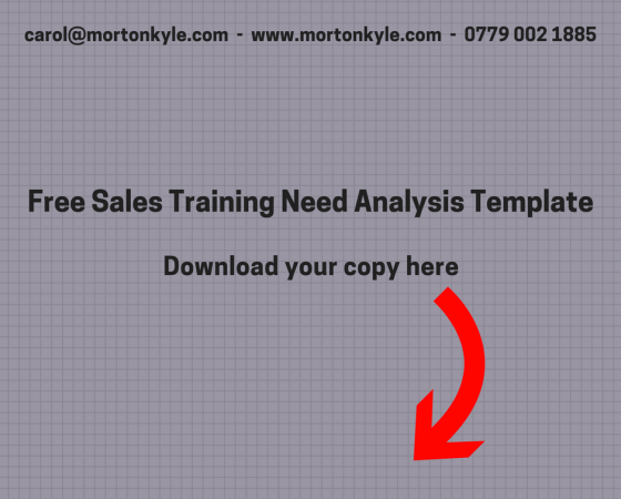 Free Sales Training Needs Analysis