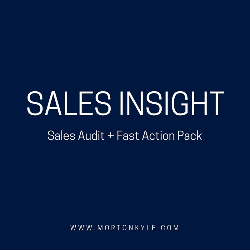Sales Process Audit - sales improvement made easy with the Sales Insights Audit