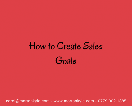 How to Create Sales Goals