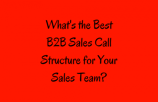 Sales Call Structure | B2B Sales