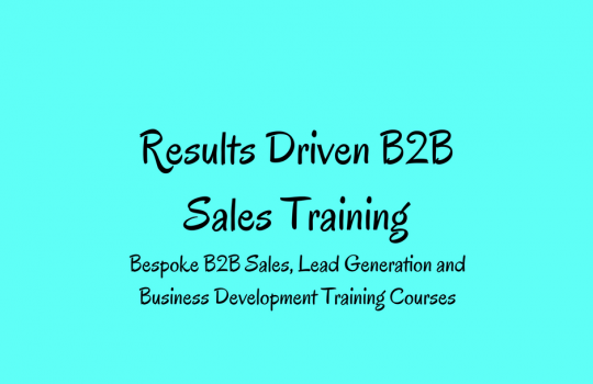 Your Guide to B2B Sales Training UK | Results Driven B2B Sales Training