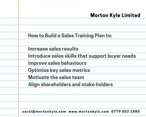 Sales Training Plan – 8 Things You Must Include if You Want Your Sales Training to Work