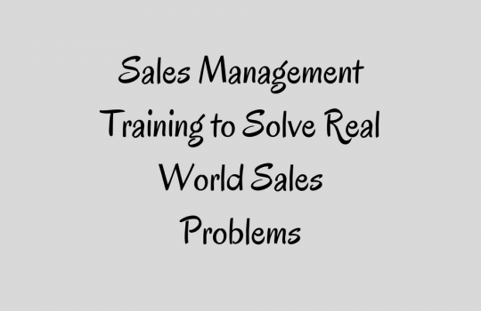 Sales Management Training | Modular Sales Improvement Training for Sales Managers