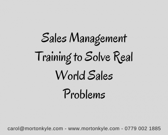 Sales Management Training | Sales Leadership Training | Modular Sales Improvement Training for Sales Managers