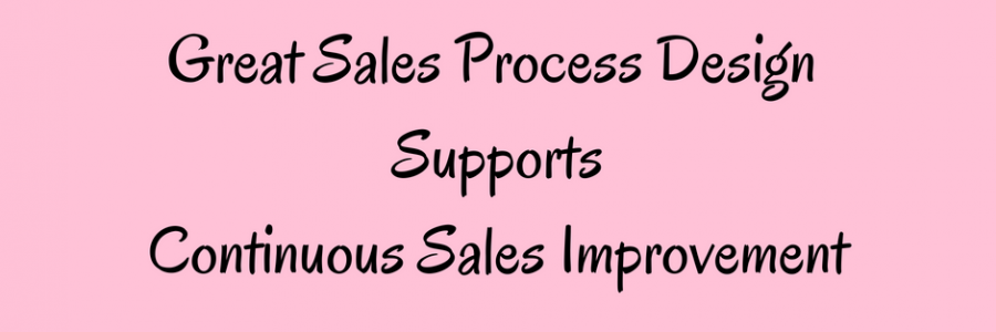 Sales Process Design to Support Fast & Continuous Sales Improvement