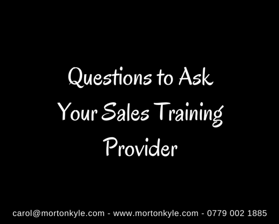 Sales Training | Questions to Ask Your Sales Trainer Before You Sign Away Your Training Budget