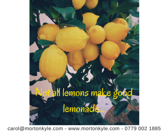 Lemons With a Side of Sugar Please… Well, Anything is Better Than Change Surely…?
