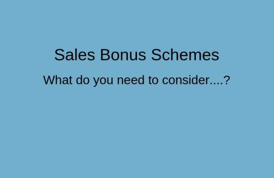 Sales Bonus Schemes | Discover What's Important to the Business and the Sales Team