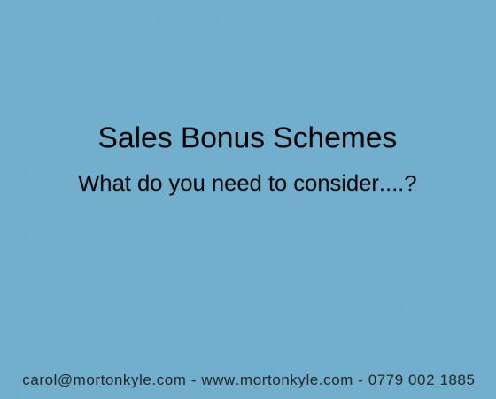 Sales Bonus Schemes | What's Really Important?